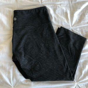 Lululemon Mid Rose Cropped Gray Leggings Size 6